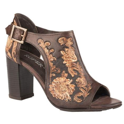 Roper Mika Closed Back Tooled Women's Wedge