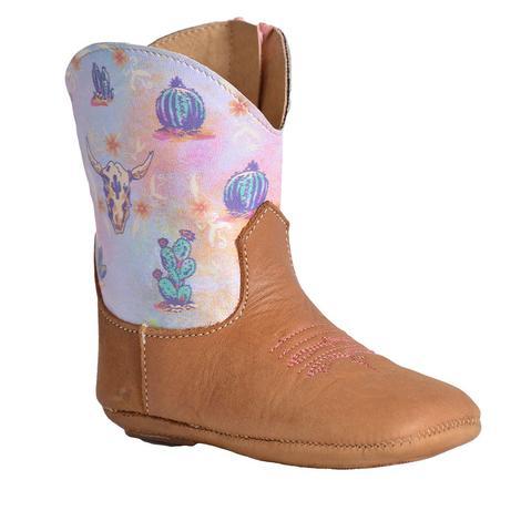 Roper Cowbaby Desert Tan Infant Boots
