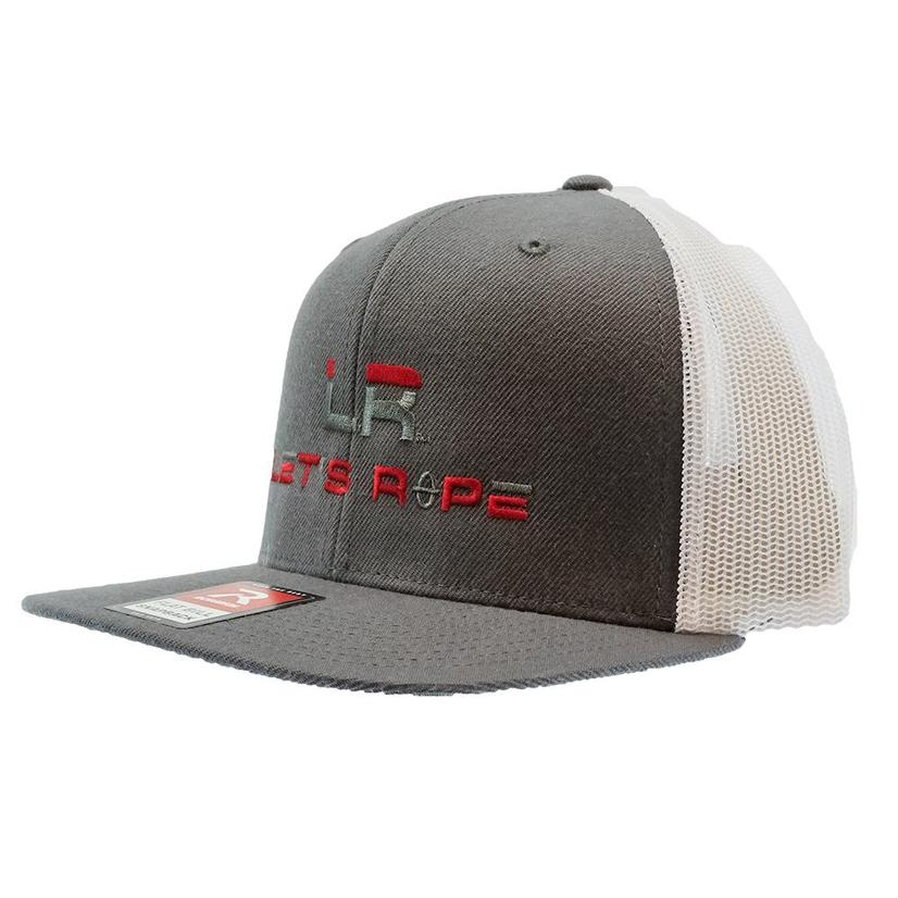 Let's Rope Charcoal White Flat Bill Meshback Cap