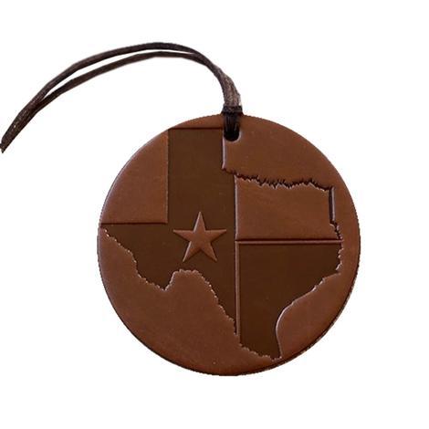 Texas Air Flair Brown Air Freshener - Leather