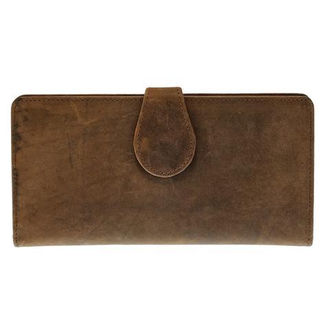 American Darling Brown Checkbook Wallet