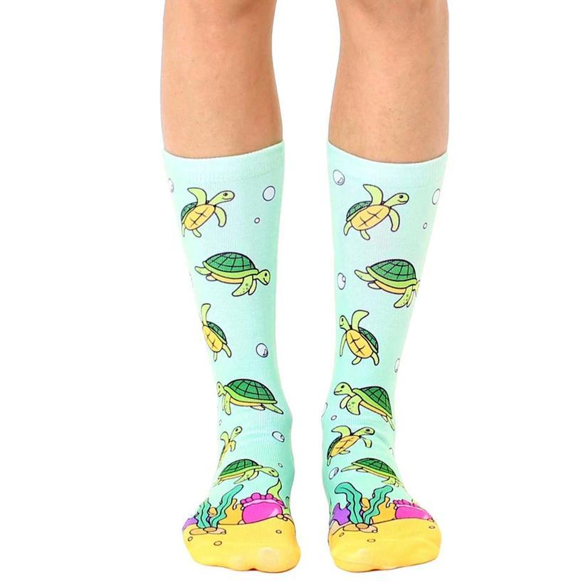 Sea Turtle Crew Socks By Living Royal