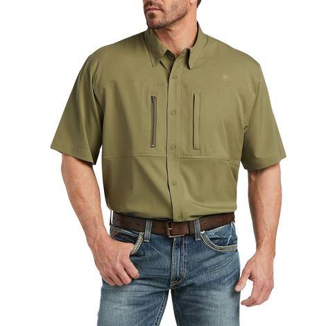 Ariat VentTek Burnt Olive Short Sleeve Buttondown Men's Shirt