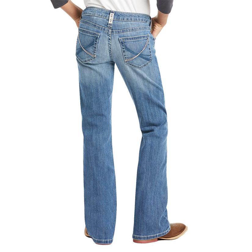 Ariat Real Vivian Antarctica Wash Girl's Bootcut Jeans