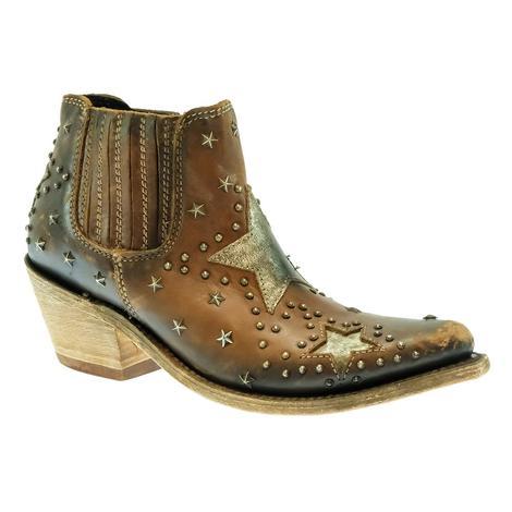 Liberty Black Drica Luggage Brown Megan Women's Shorty Boots
