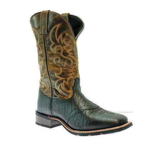 Laredo Topeka Black Brown Cowhide Men's Boots