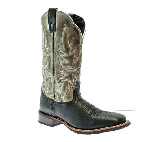 Laredo Issac Black Grey Cowhide Men's Boots