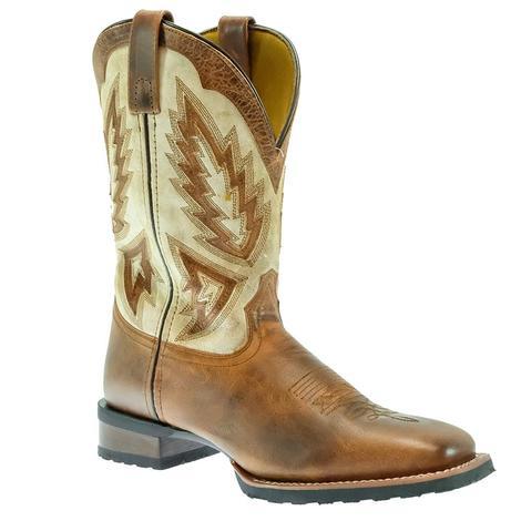 Laredo Koufax Tan and White Men's Boots