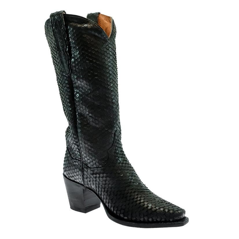 Dan Post Nix Black Faux Python Women's Boots