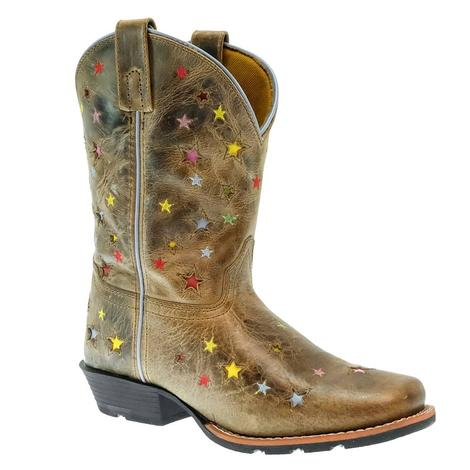 Dan Post Starlett Brown Multi Star Girl's Youth Boots
