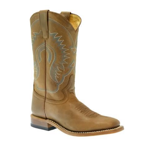 Macie Bean Pecan Barking Iron Kid Boots