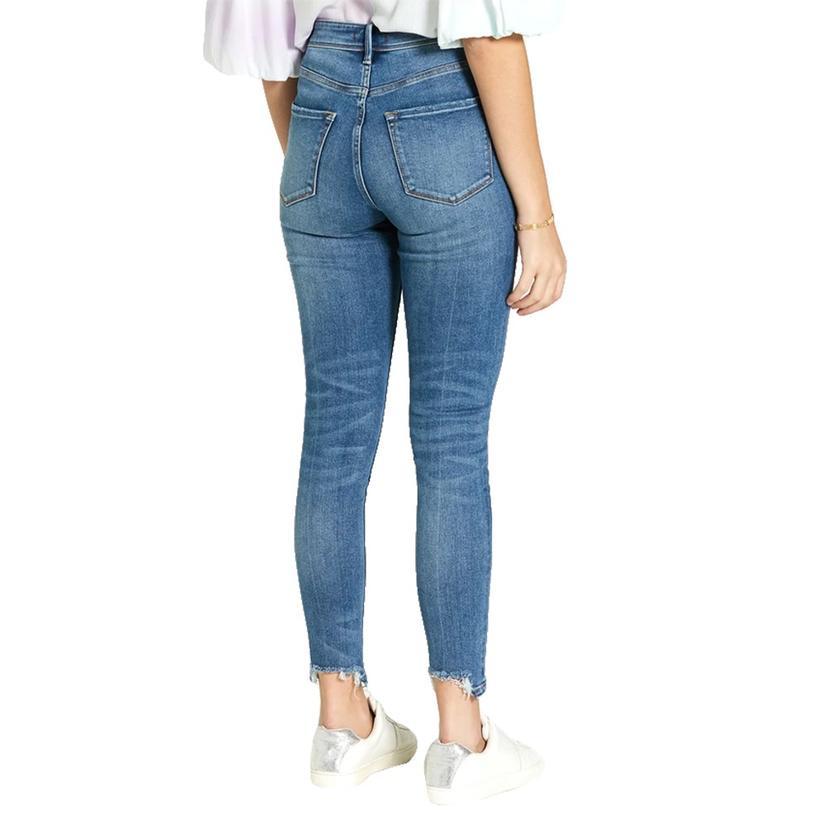 Dear John Denim Olivia High Rise Skinny With Fray Hem Women's Jeans