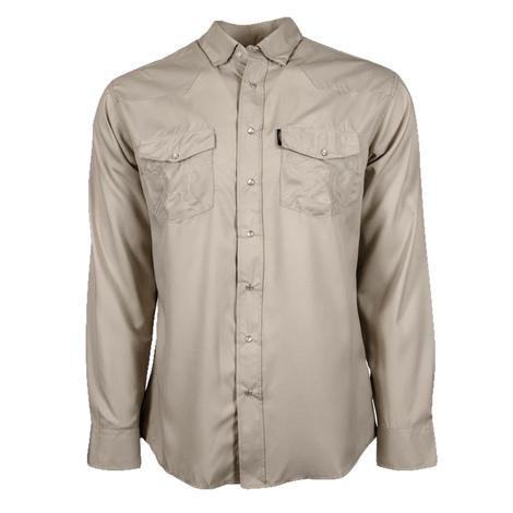 Hooey Sol Tan Long Sleeve Pearl Snap Men's Shirt