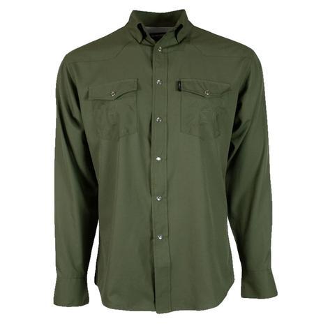 Hooey Sol Olive Long Sleeve Pearl Snap Men's Shirt