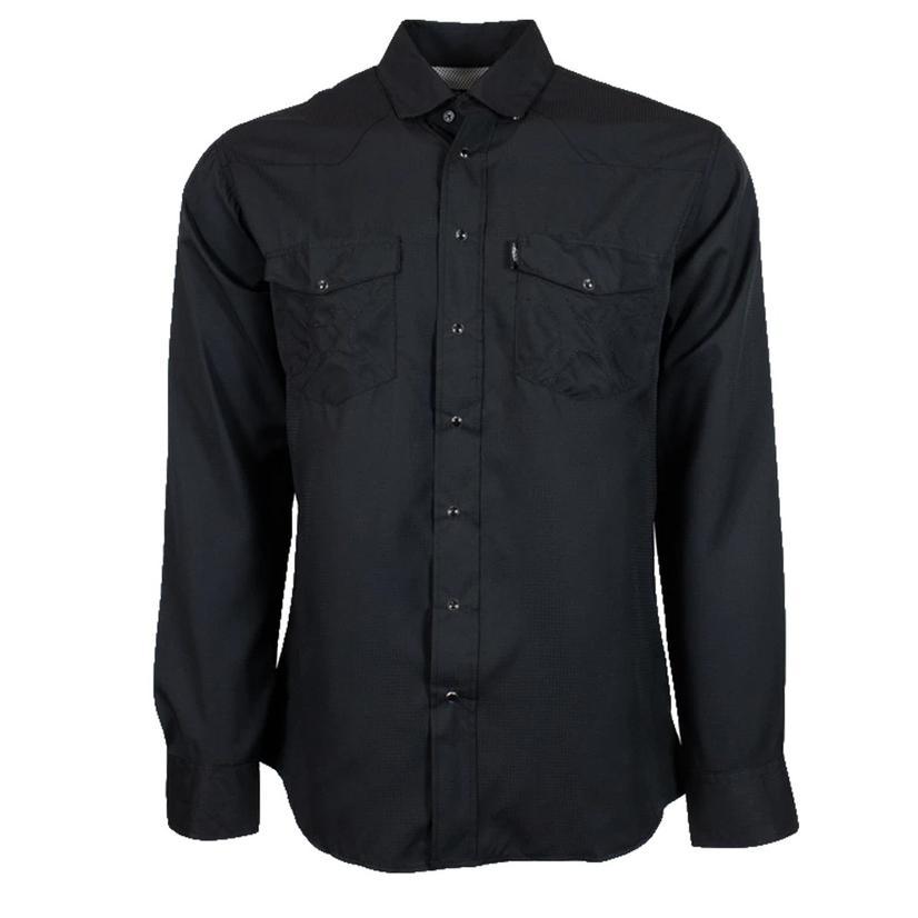 Hooey Sol Black Long Sleeve Pearl Snap Men's Shirt