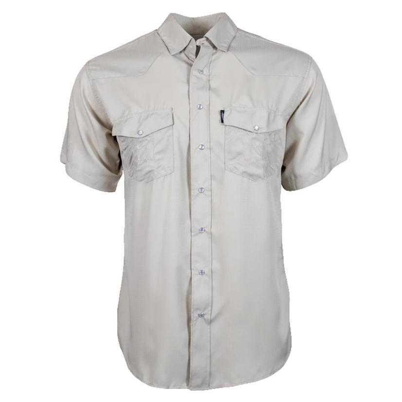 Hooey Sol Tan Short Sleeve Pearl Snap Men's Shirt