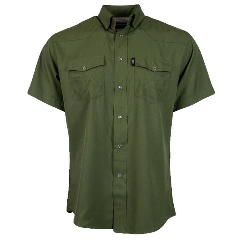 Hooey Sol Olive Short Sleeve Pearl Snap Men's Shirt