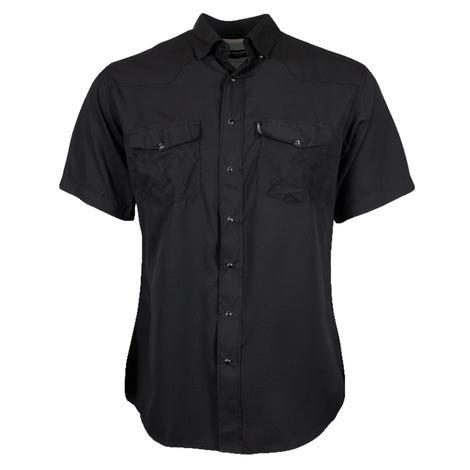Hooey Sol Black Short Sleeve Pearl Snap Men's Shirt