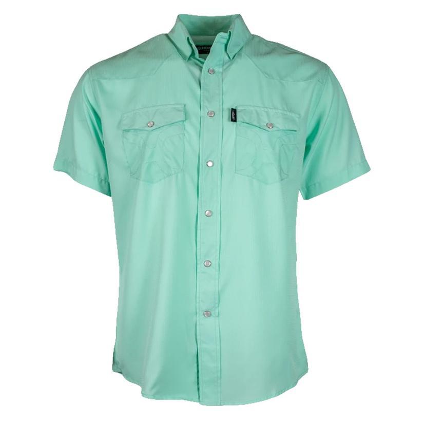 Hooey Sol Seafoam Short Sleeve Pearl Snap Men's Shirt