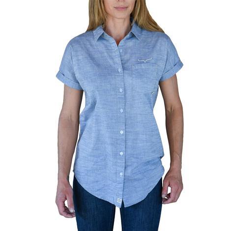 Kimes Ranch Doman Short Sleeve Buttondown Indigo Women's Shirt