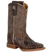 Anderson Bean Kids ' Brown Cross Stitched Boots