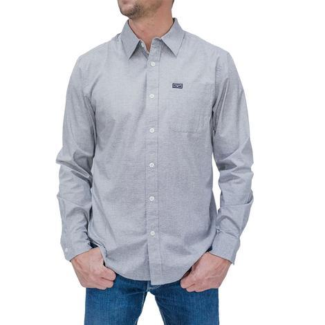 Kimes Ranch Linville Long Sleeve Buttondown Grey Heather Men's Shirt