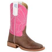 Anderson Bean Toddler/Kids Antique Bone Goat Boots W/Pink Glove Top