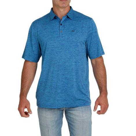 Cinch Arenaflex Blue Men's Polo Shirt