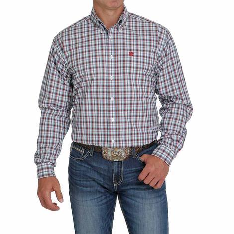 Cinch Multicolor Plaid Long Sleeve Buttondown Men's Shirt