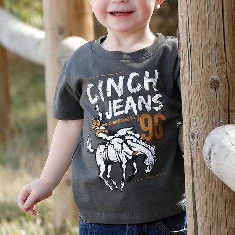 Cinch Charcoal Bucking Bronc Toddler Boy's Tee