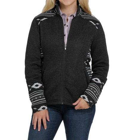 Cinch Black Aztec Print Sweater Knit Women's Jacket