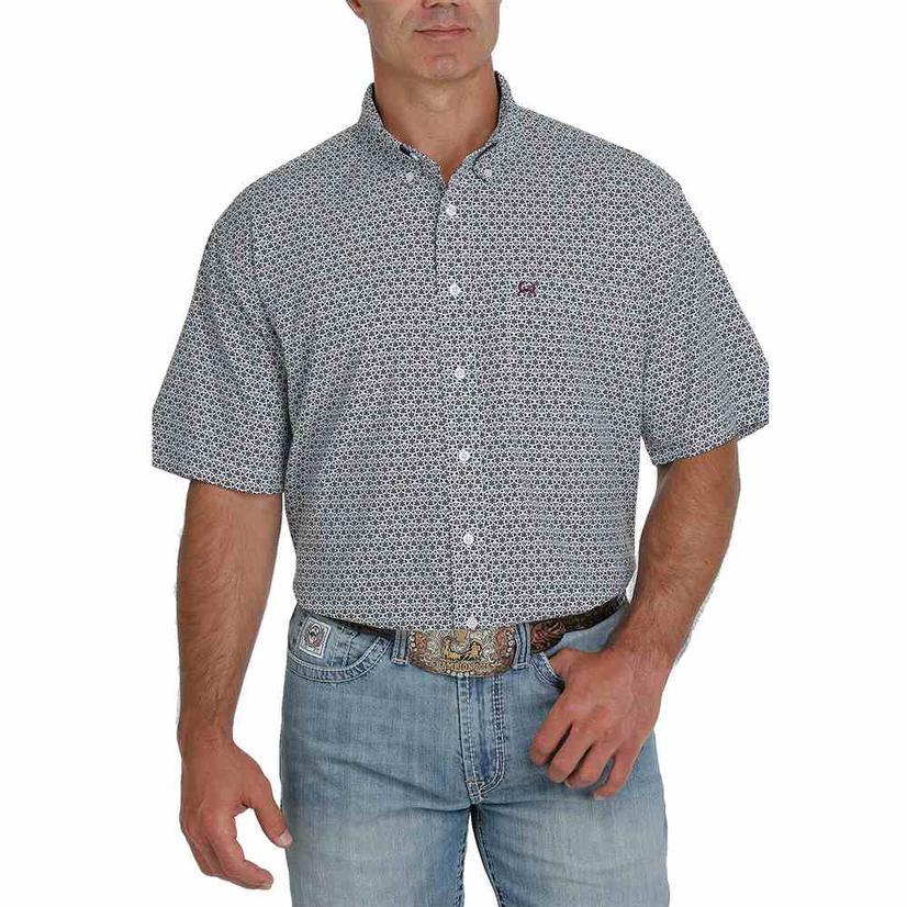 Cinch Arenaflex Multi Print Short Sleeve Buttondown Men's Shirt