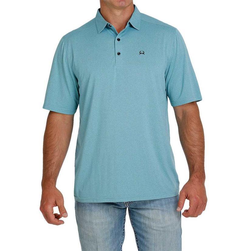 Cinch Light Blue Short Sleeve Men's Polo Shirt