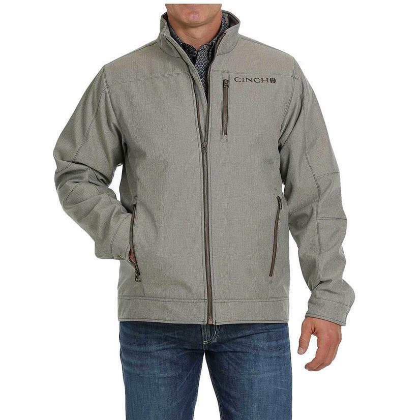 Cinch Tan Textured Concealed Carry Bonded Men's Jacket