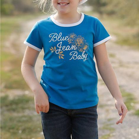 Cruel Girl Blue Jean Baby Girl's Ringer Tee