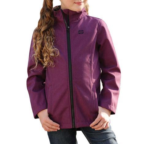 Cruel Girl Purple Textured Bonded Girl's Jacket