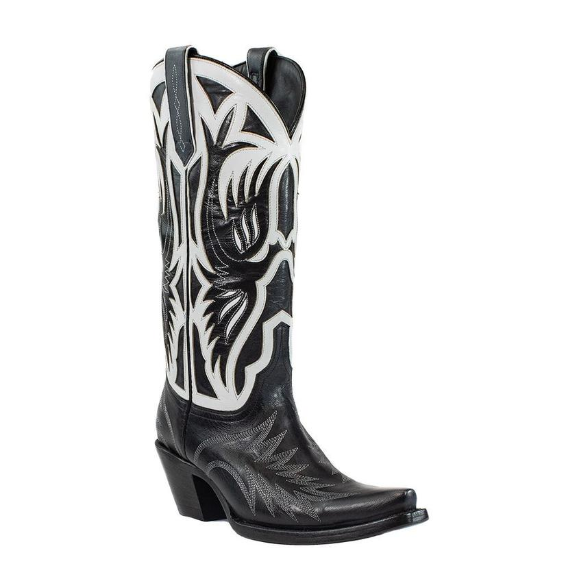 Azulado Sam Black And White Calf Women's Boots