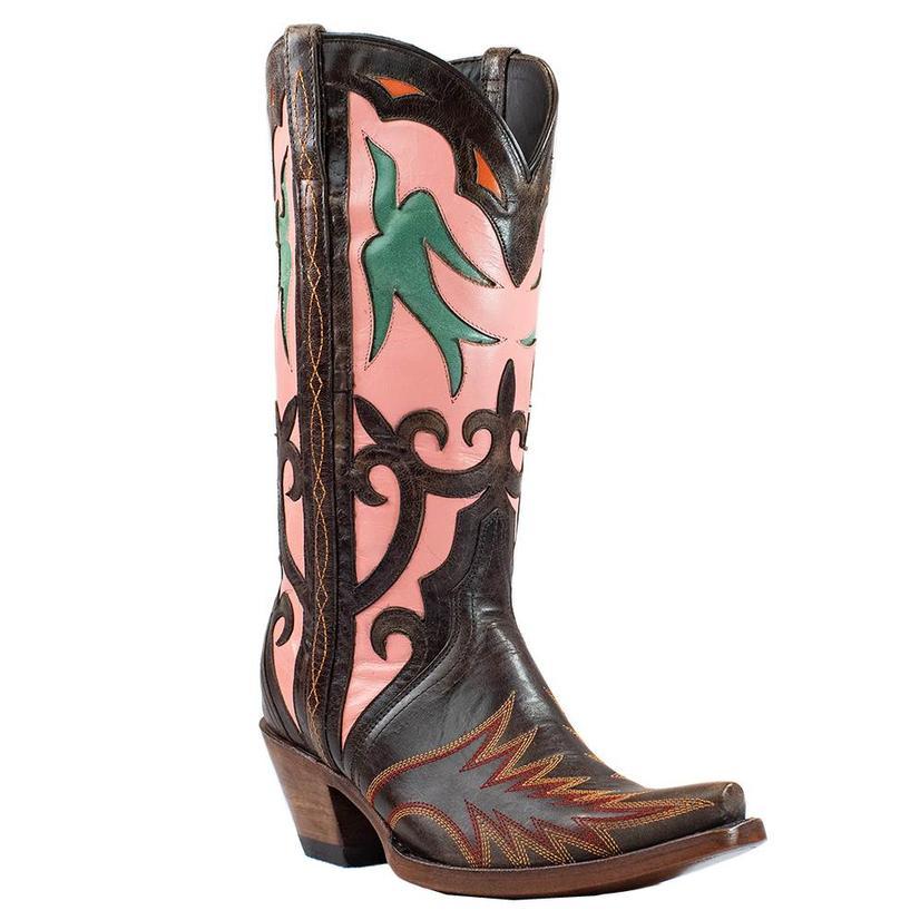 Azulado Monroe Chocolate Pink Goat Women's Boots