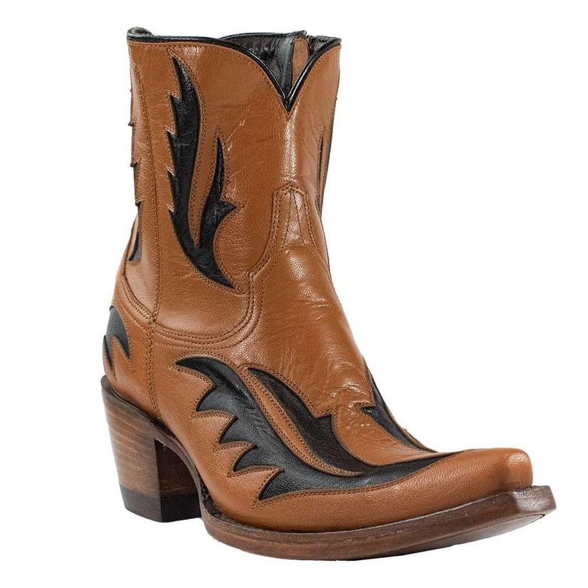 Azulado Lisa Brown And Black Women's Shortie Boots
