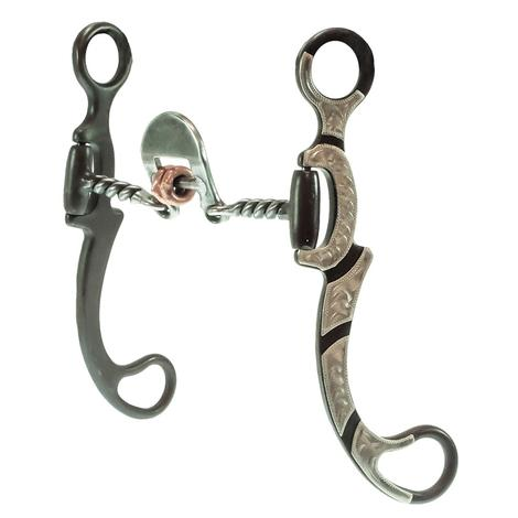 American Heritage Equine Silver Mounted Twisted Wire Floating Spoon Bit