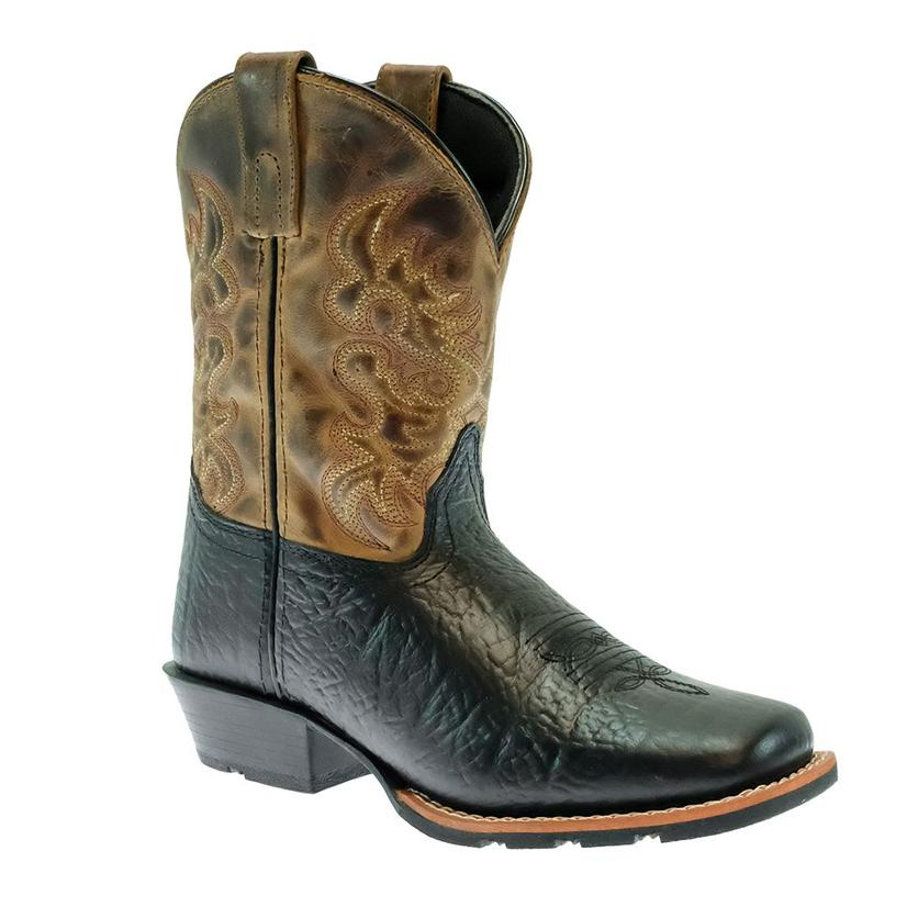 Dan Post Little River Black Brown Youth Boy's Boots