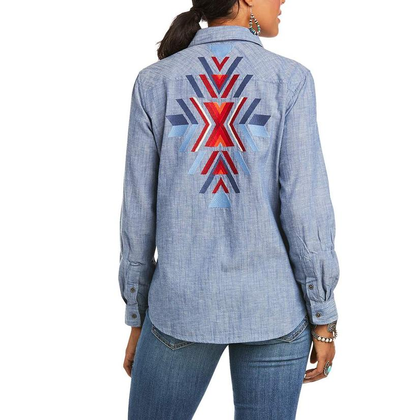 Ariat Real Billie Jean Embroidered Denim Snap Women's Shirt