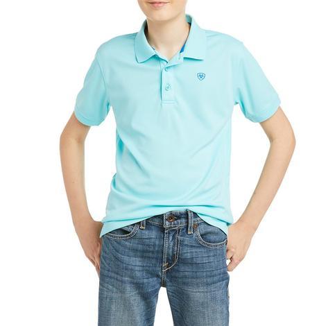 Ariat Aqua Tek Short Sleeve Boy's Polo Shirt