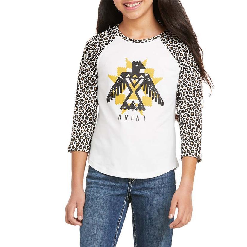 Ariat Leopard Thunderbird Girl's Baseball Tee