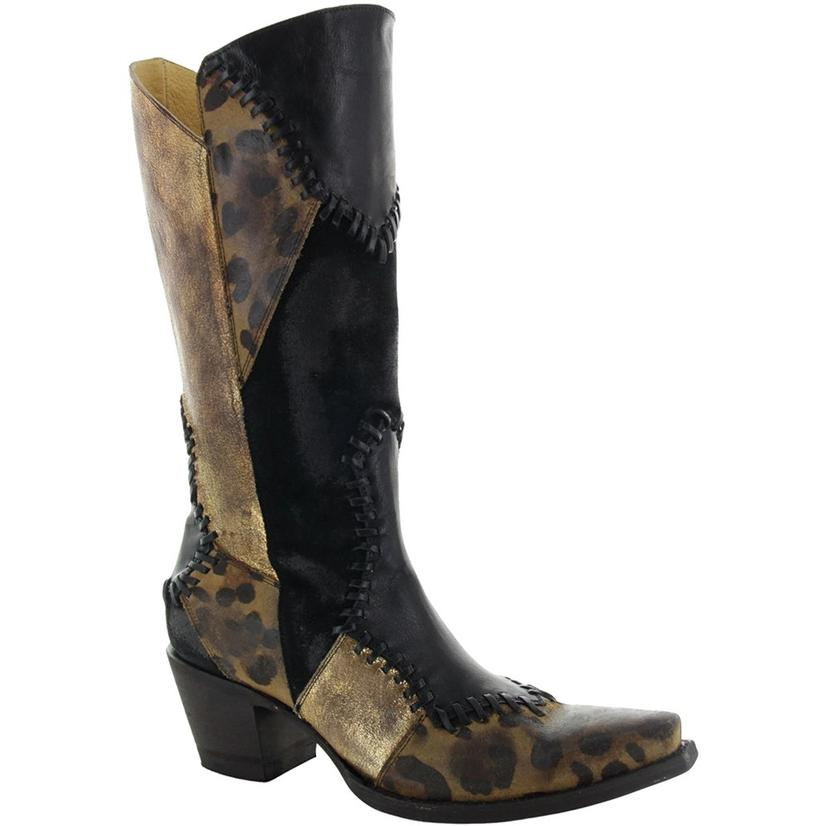 Old Gringo Yippee Ki Yay Hayley Black Brown Patchwork Women's Boots