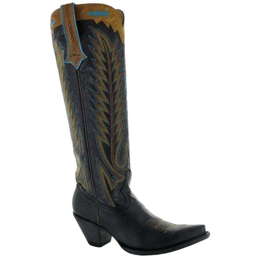 Old Gringo Yippee Ki Yay Yucatan Black With Turquoise Women's Boots