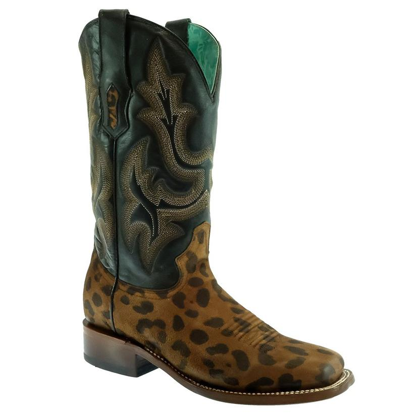Corral Leopard Print Embossed Top Women's Boots