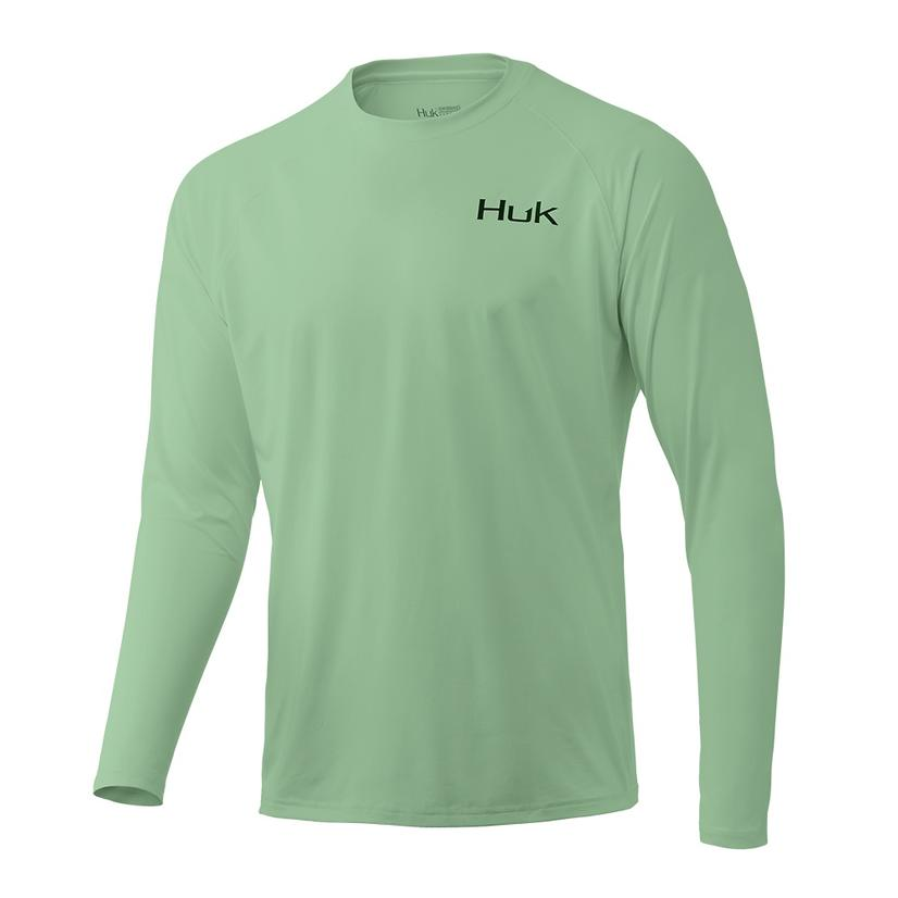 Huk Pursuit Long Sleeve Key Lime Men's Shirt