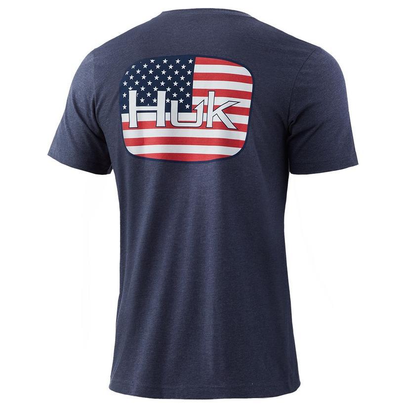 Huk American Badge Sargasso Sea Men's Tee