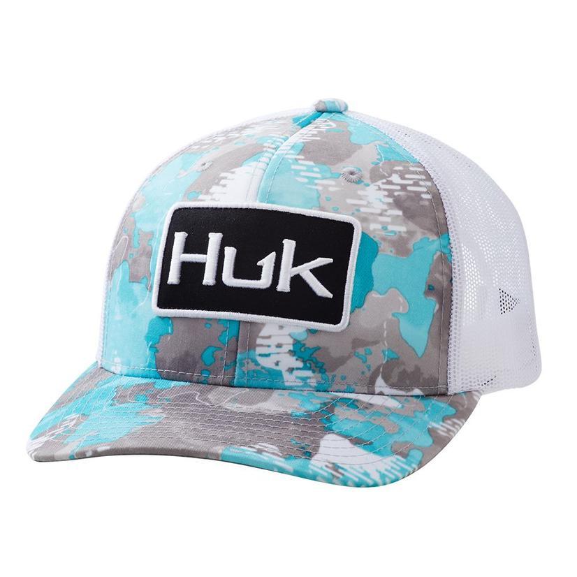 Huk Huk ' D Up Angler Refraction Inshore Meshback Cap
